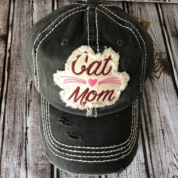 60985067f15 Black Vintage Style Cat 🐱 Mom Baseball Cap